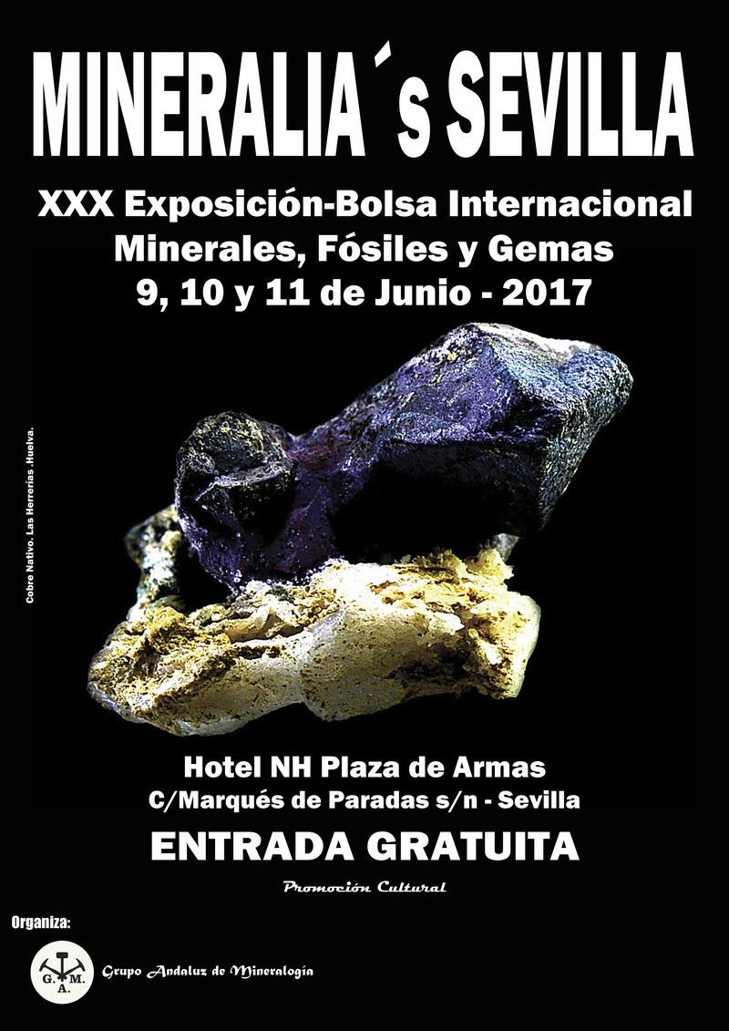 XXX Exposición-Bolsa Internacional Minerales, Fósiles y Gemas 2017 - MINERALIA SEVILLA Cartel10