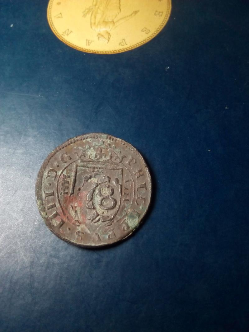 8 maravedis de felipe IV, ceca de Segovia con resello. Img_2129