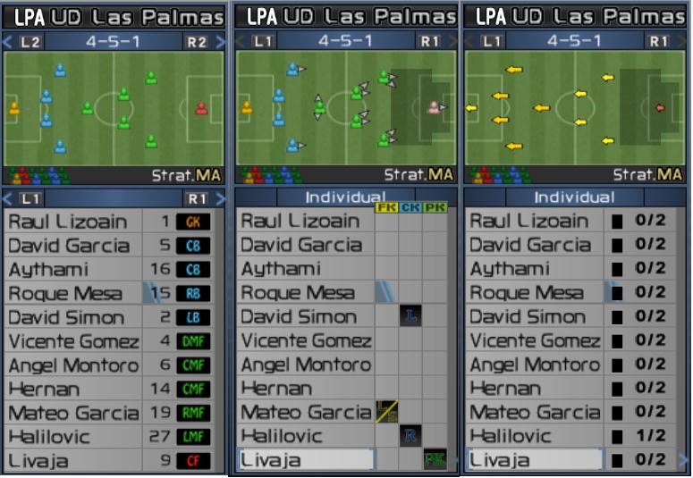 Alineaciones Las Palmas  111