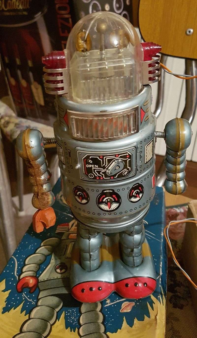 sonsco robot vintage a batteria anni 50 made in japan _5710