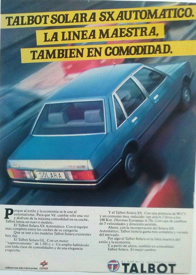 ANUNCIOS TALBOT SOLARA  10857810