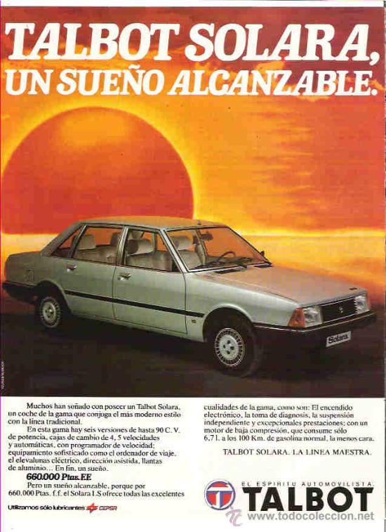 ANUNCIOS TALBOT SOLARA  11226410