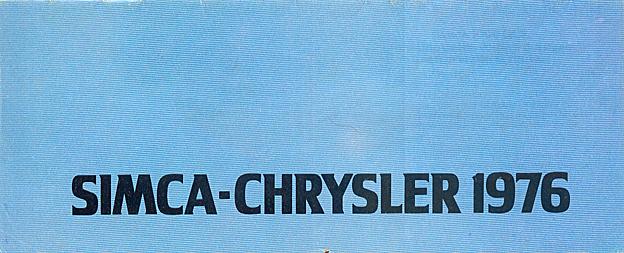 CATALAGO CHRYSLER SIMCA AÑO 1976 76-11011
