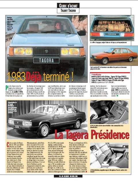 REPORTAJE TALBOT TAGORA EN FRANCES  Fb_img23
