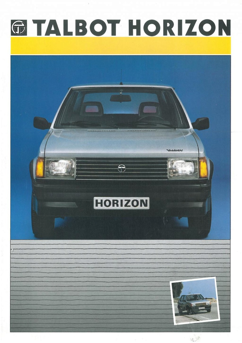 CATALOGO TALBOT HORIZON ESPAÑA AÑO 1986 Horizo10