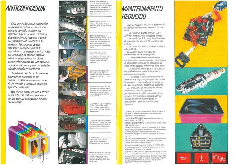 CATALOGO TALBOT HORIZON ESPAÑA AÑO 1986 Horizo18
