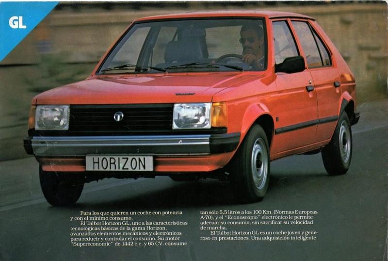 CATALOGO TALBOT HORIZON ESPAÑA 1981 Img15810