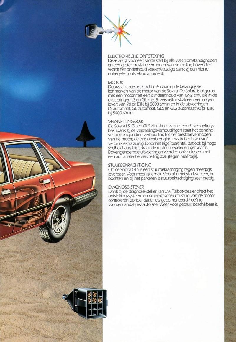 CATALOGO TALBOT SOLARA AÑO 1984 EN HOLANDES  Img22310