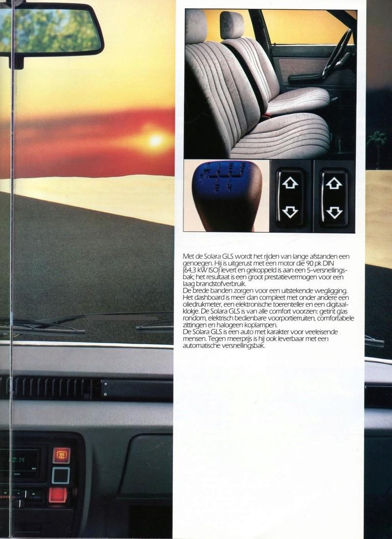 CATALOGO TALBOT SOLARA AÑO 1984 EN HOLANDES  Img22910