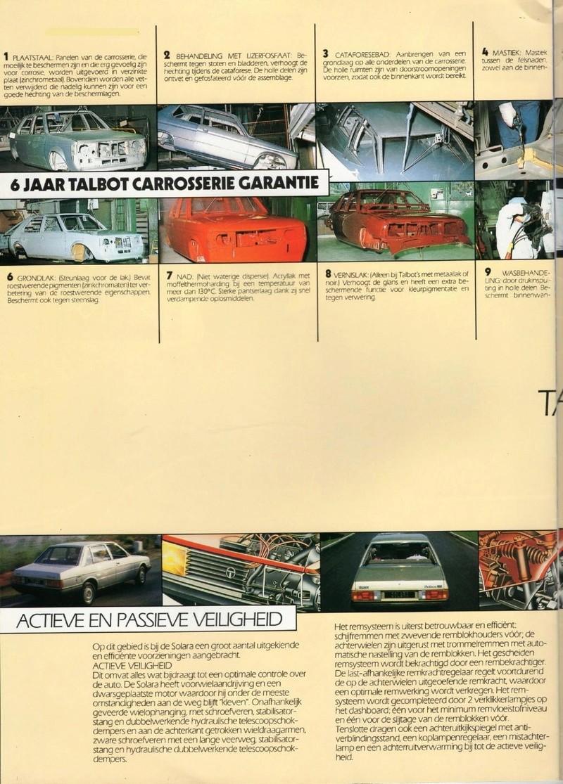 CATALOGO TALBOT SOLARA AÑO 1984 EN HOLANDES  Img23010