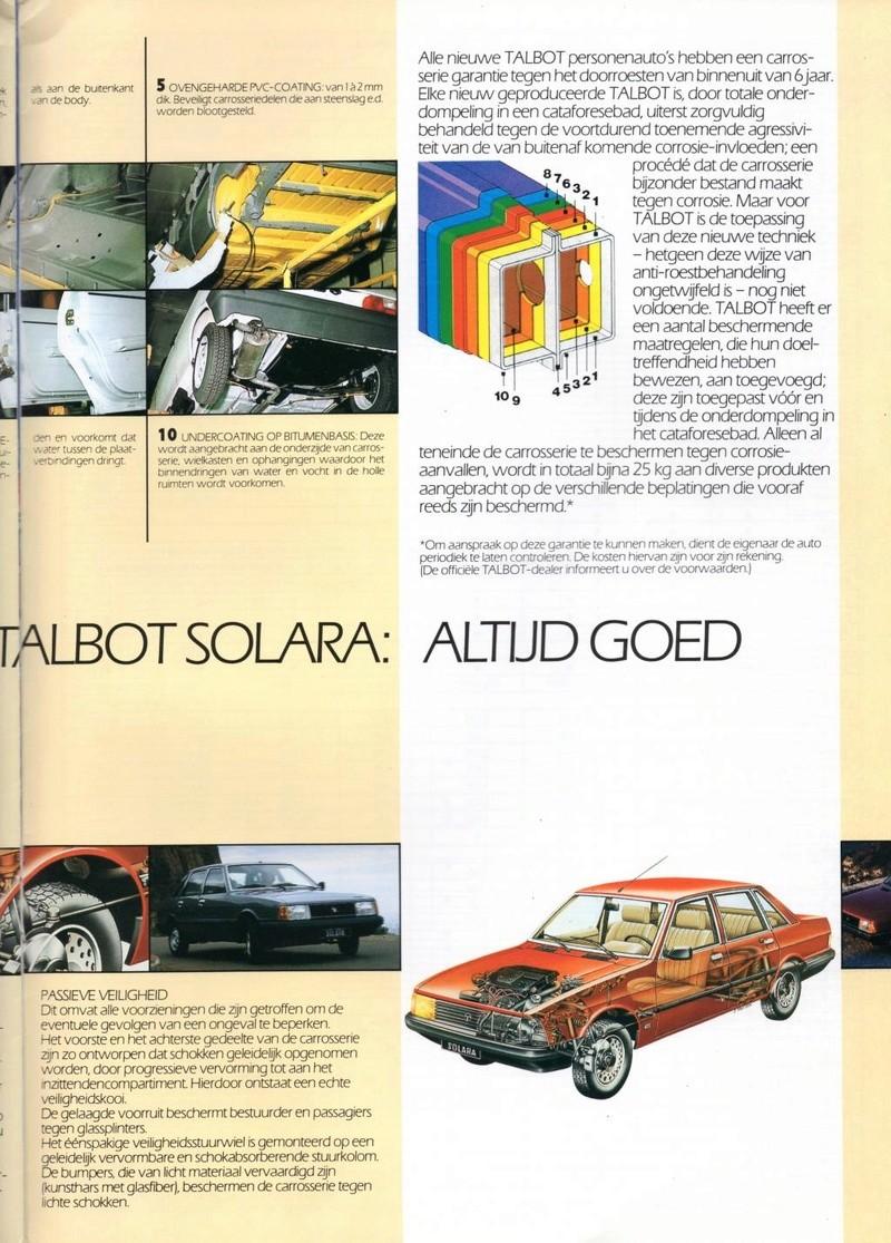 CATALOGO TALBOT SOLARA AÑO 1984 EN HOLANDES  Img23110