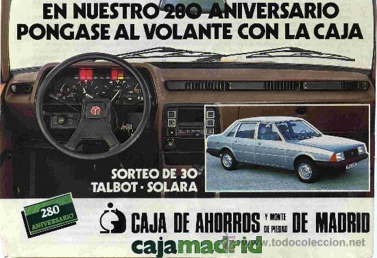 ANUNCIOS TALBOT SOLARA  Madrid10