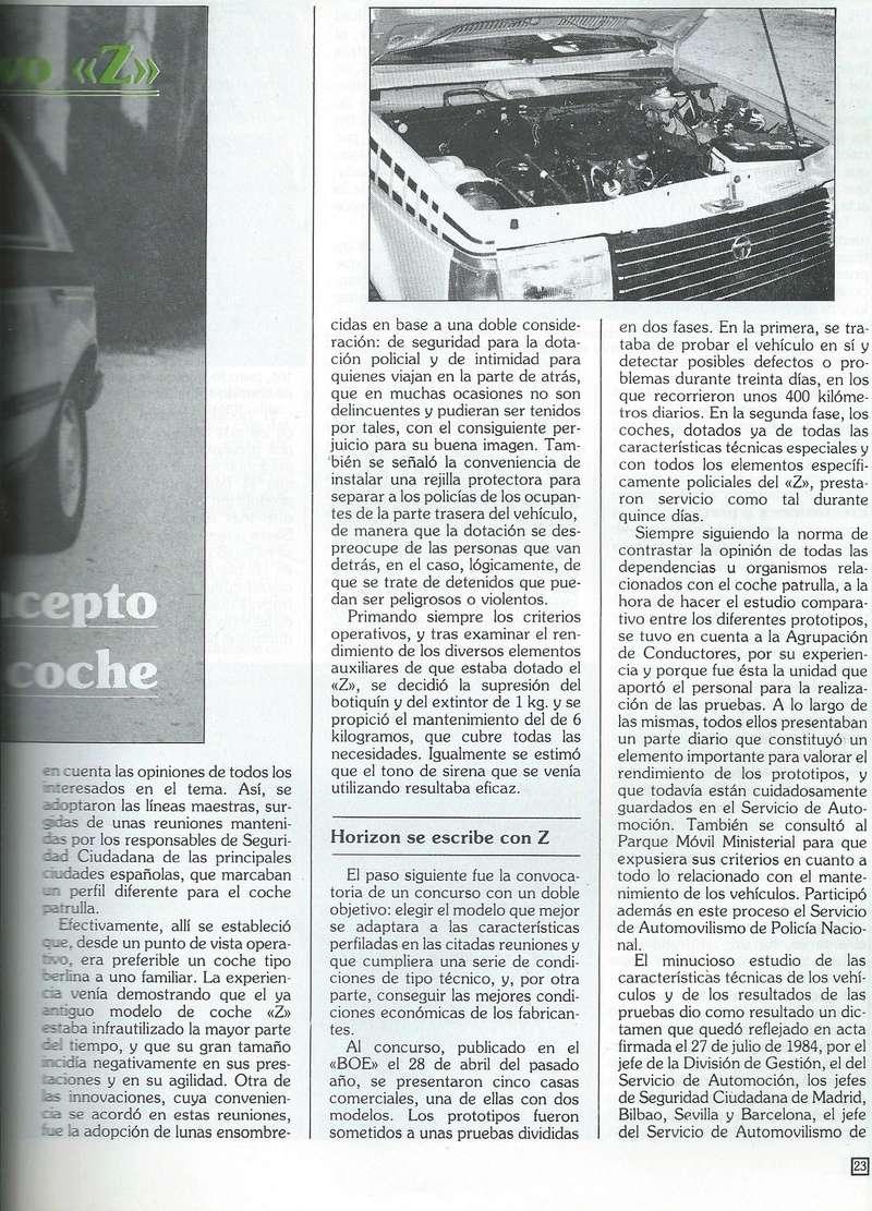 REPORTAJE PRESENTACION TALBOT HORIZON VEHICULO POLICIAL ESPAÑA Scan0043