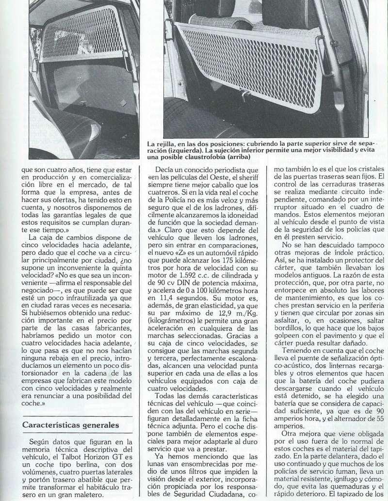 REPORTAJE PRESENTACION TALBOT HORIZON VEHICULO POLICIAL ESPAÑA Scan0048