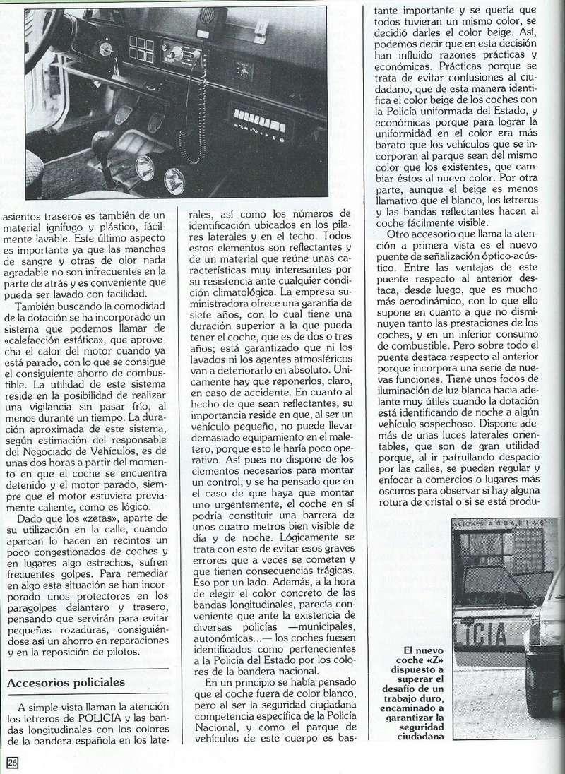 REPORTAJE PRESENTACION TALBOT HORIZON VEHICULO POLICIAL ESPAÑA Scan0049