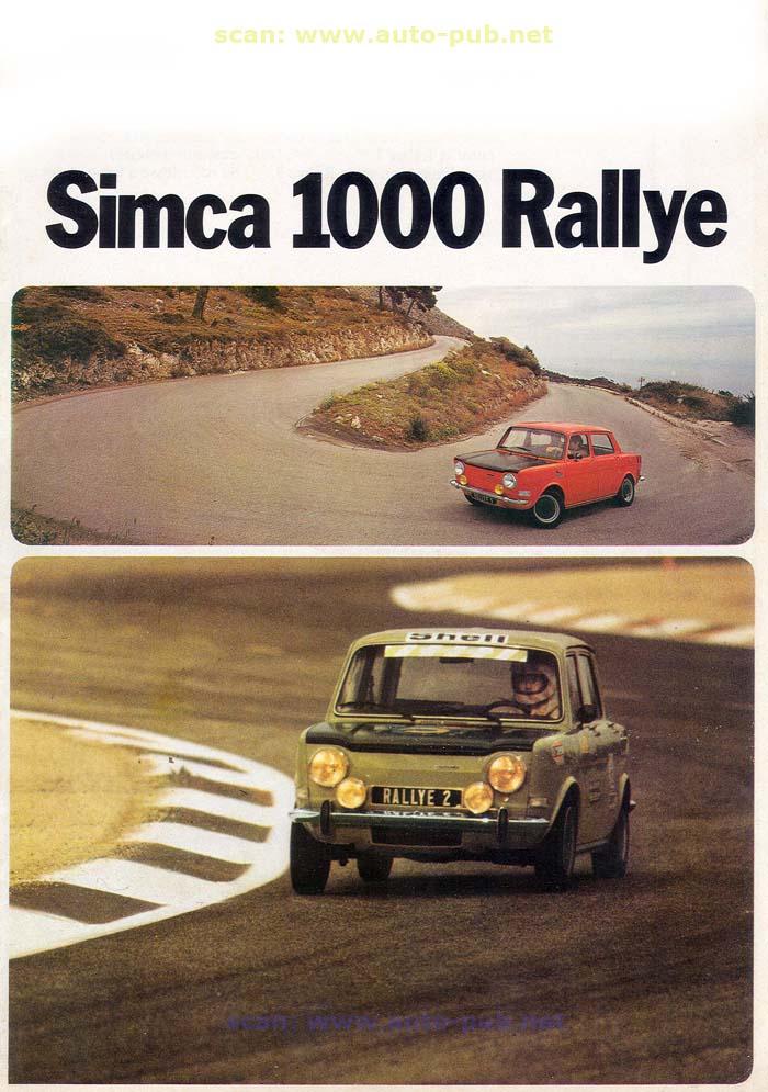 SIMCA 1000 RALLYE AÑO 1973 EN FRANCES  Simca_30