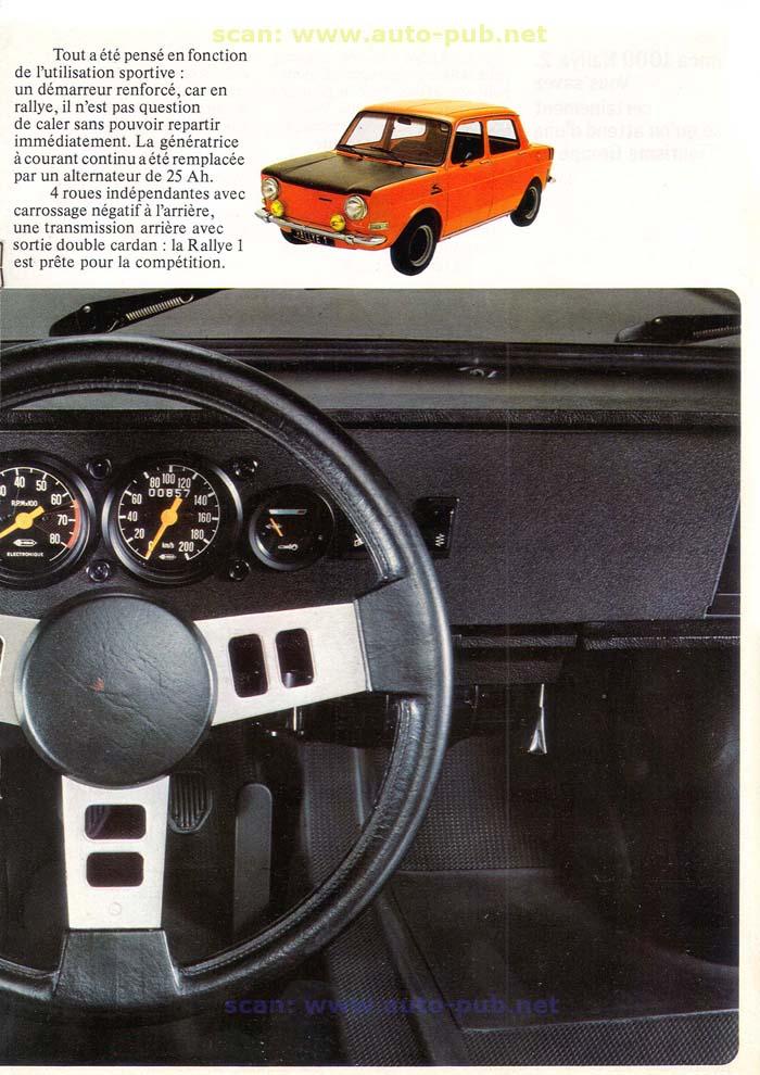 SIMCA 1000 RALLYE AÑO 1973 EN FRANCES  Simca_31