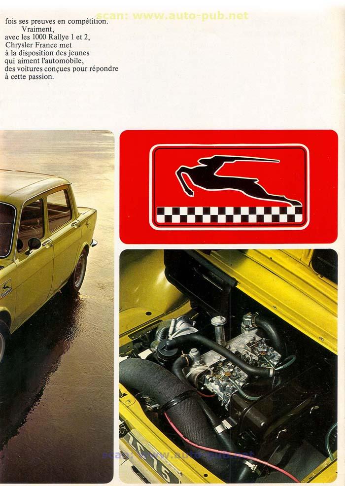 SIMCA 1000 RALLYE AÑO 1973 EN FRANCES  Simca_32