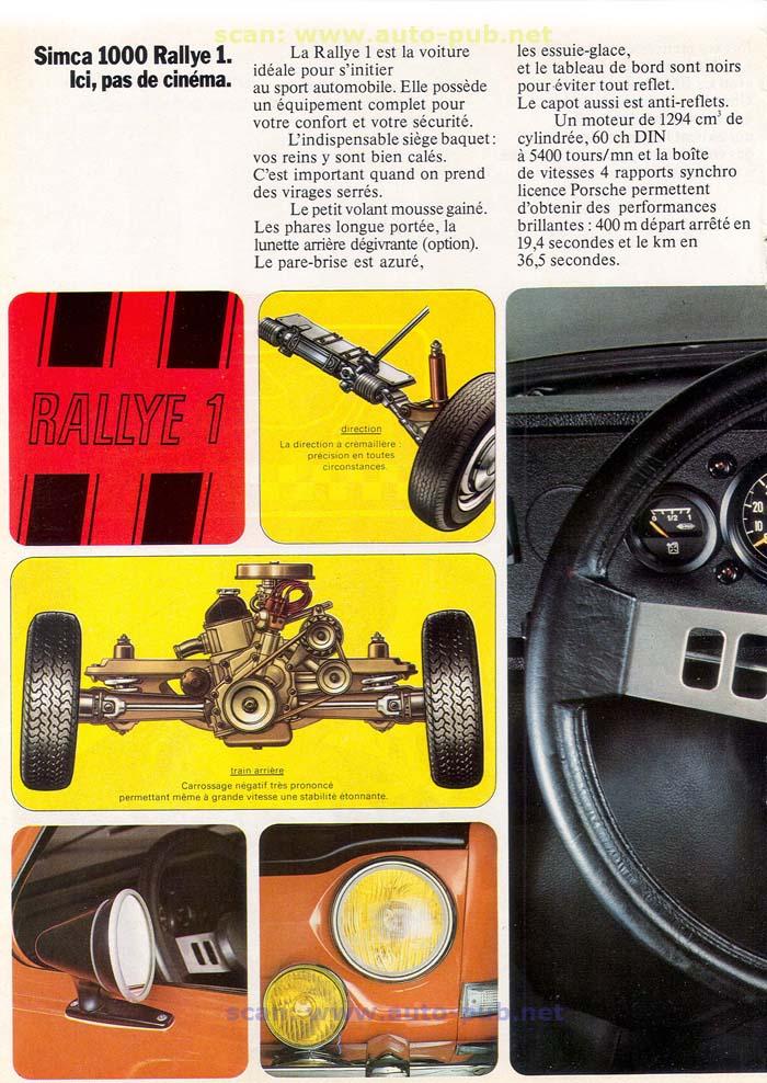 SIMCA 1000 RALLYE AÑO 1973 EN FRANCES  Simca_33