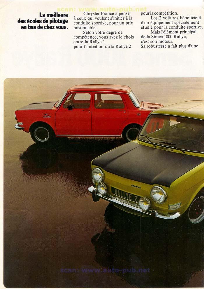 SIMCA 1000 RALLYE AÑO 1973 EN FRANCES  Simca_34