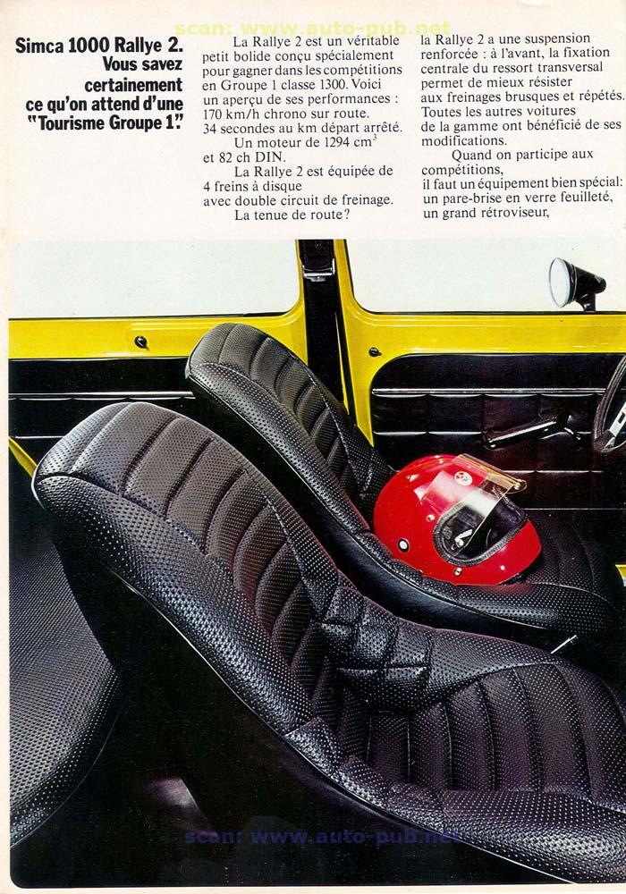 SIMCA 1000 RALLYE AÑO 1973 EN FRANCES  Simca_35