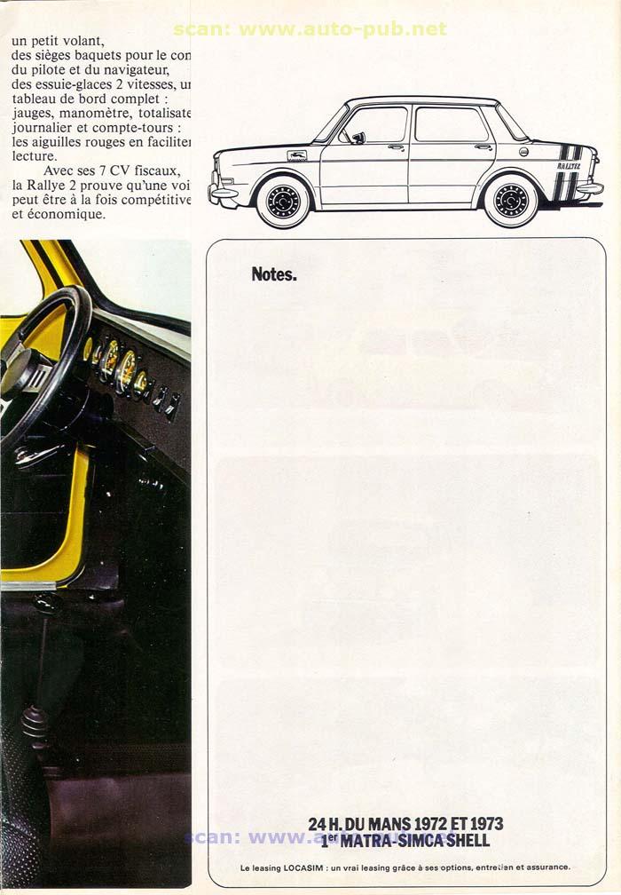 SIMCA 1000 RALLYE AÑO 1973 EN FRANCES  Simca_36