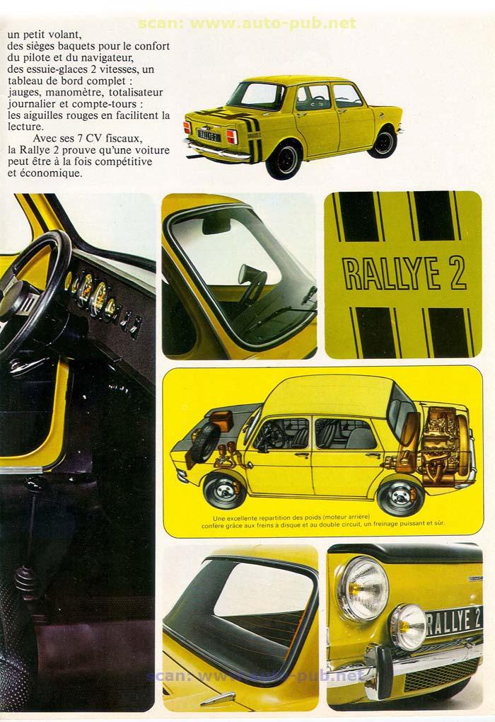 SIMCA 1000 RALLYE AÑO 1973 EN FRANCES  Simca_37