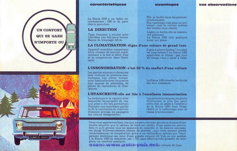 CATALOGO PRIMERO SIMCA 1000 AÑO 1962 EN FRANCES  Simca_47