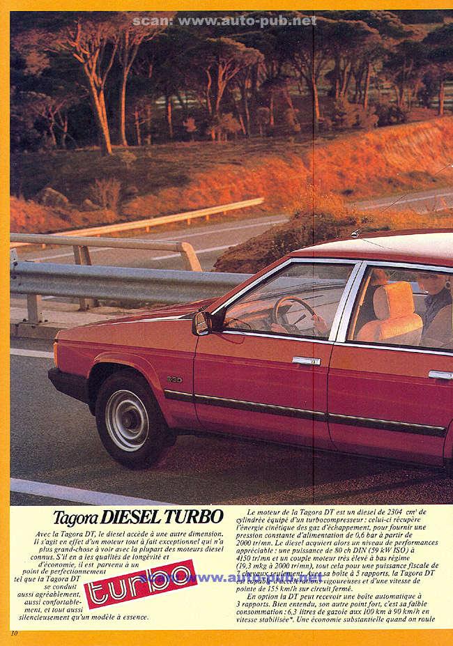 CATALOGO TALBOT TAGORA AÑO 1982 EN FRANCES  Tagora29