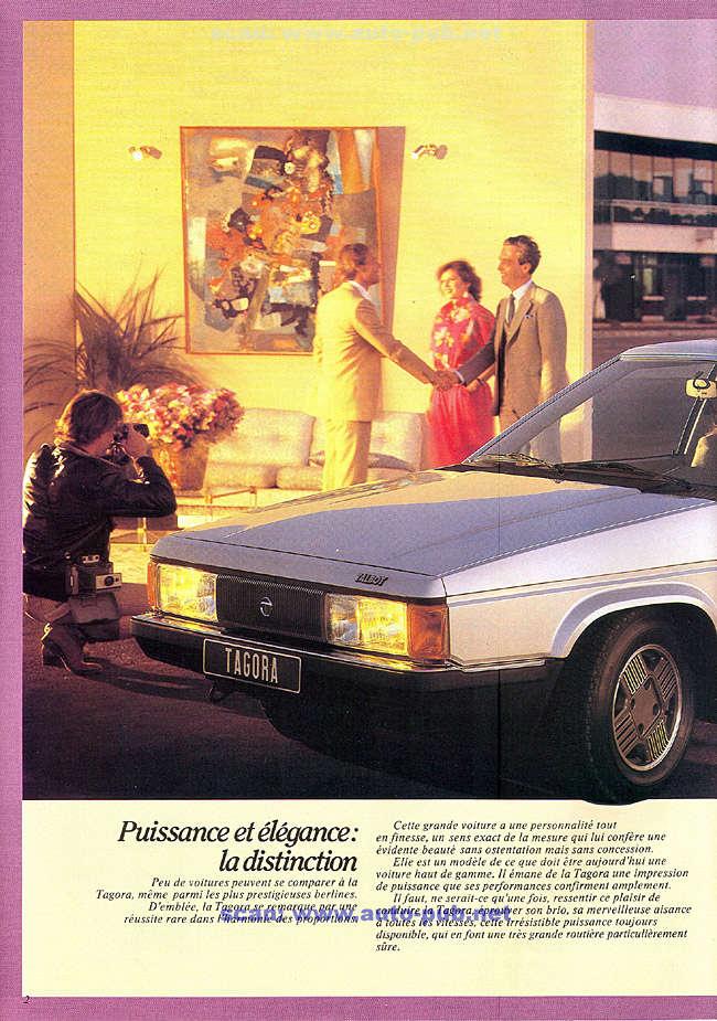CATALOGO TALBOT TAGORA AÑO 1982 EN FRANCES  Tagora30