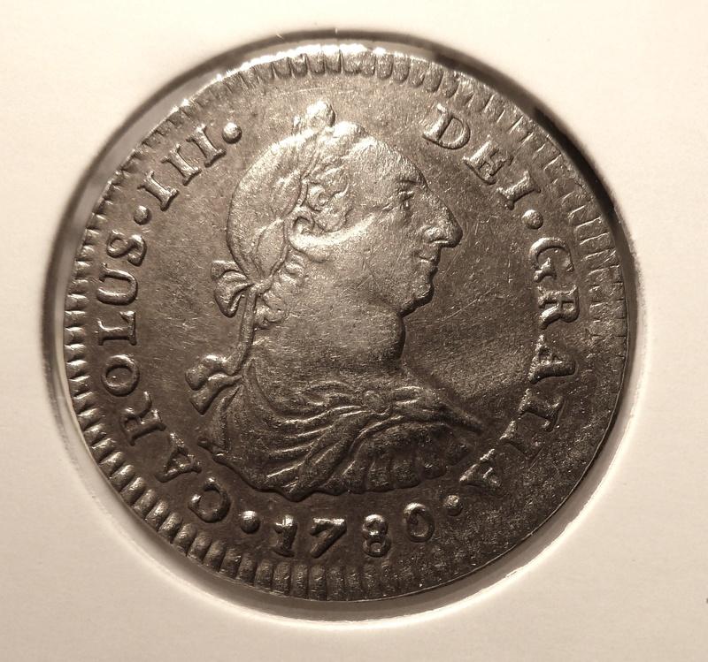 1 real  Carlos III , Ceca de Méjico -1780. P1120512