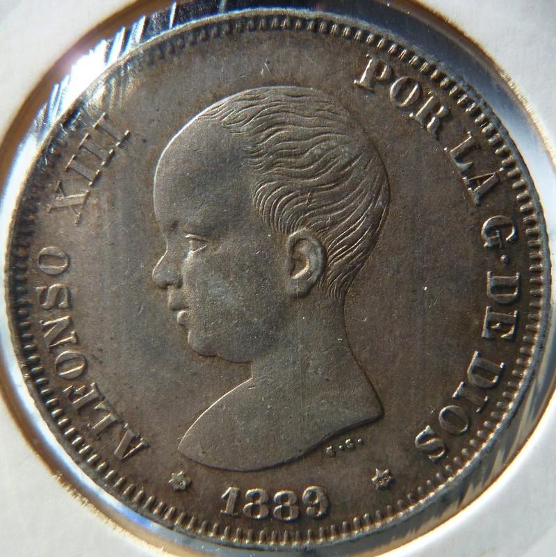 2 pesetas 1889 (*18-89). Alfonso XIII P1120523