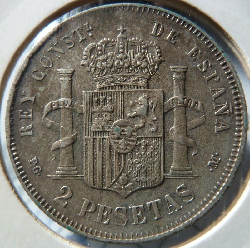 2 pesetas 1892 (*18-92). Alfonso XIII P1120525