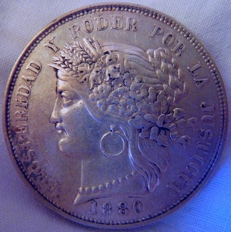 5 Pesetas peruanas de 1880 P1120615
