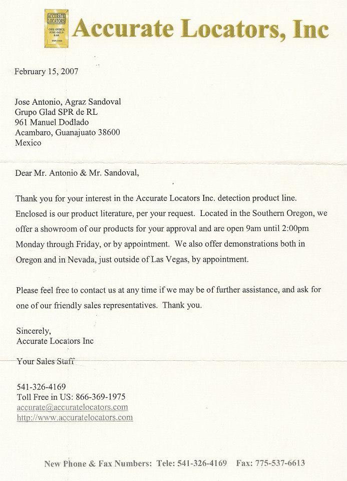 Colección de cartas empresas detección 56419010