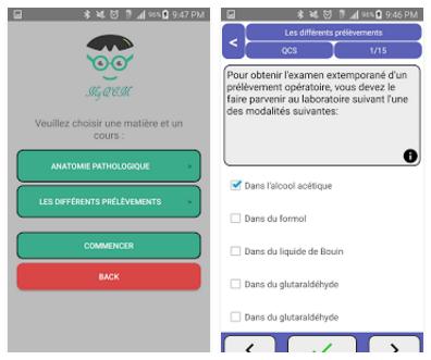 Application Diagest (internat test) pour les téléphones et tablettes android (MyQCM)  Myqcm10