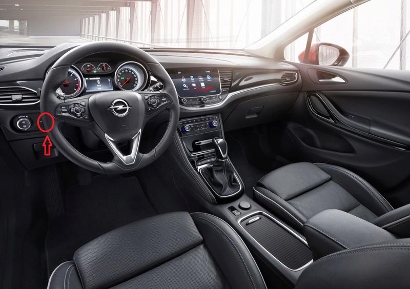 Modo noche pantalla IntelliLink Opel-a10