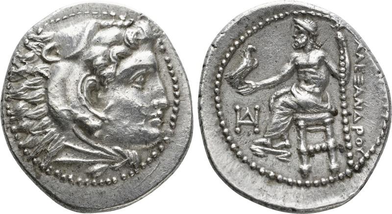 Dracma de imitación céltica de Alejandro Magno Drac110