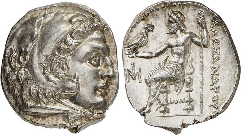 Dracma de imitación céltica de Alejandro Magno Drac210
