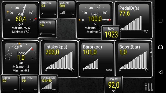 Mediciones con Torque PRO - Presión de sobrealimentación del Turbo Whatsa24