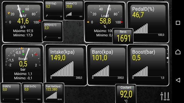 Mediciones con Torque PRO - Presión de sobrealimentación del Turbo Whatsa25
