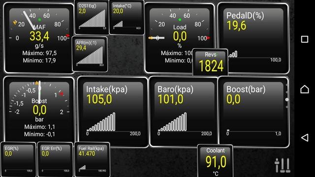 Mediciones con Torque PRO - Presión de sobrealimentación del Turbo Whatsa26