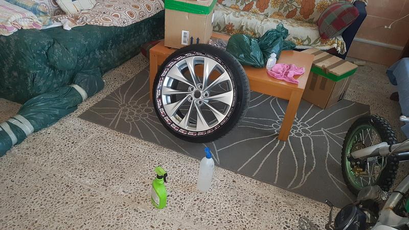 """[Brico Astra K] Pintar ruedas 17"""" multiradios ( vale para cualquier llanta en si) 20170417"""