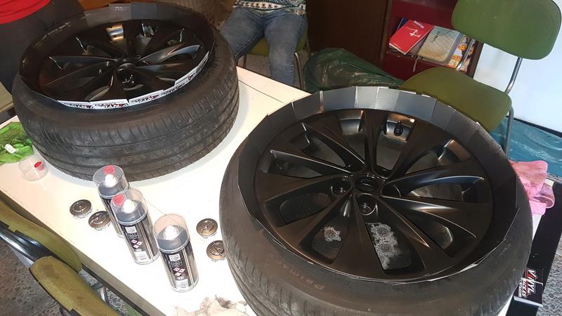 """[Brico Astra K] Pintar ruedas 17"""" multiradios ( vale para cualquier llanta en si) 20170420"""