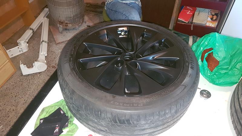 """[Brico Astra K] Pintar ruedas 17"""" multiradios ( vale para cualquier llanta en si) 20170422"""