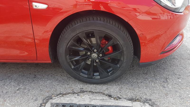 """[Brico Astra K] Pintar ruedas 17"""" multiradios ( vale para cualquier llanta en si) 20170511"""