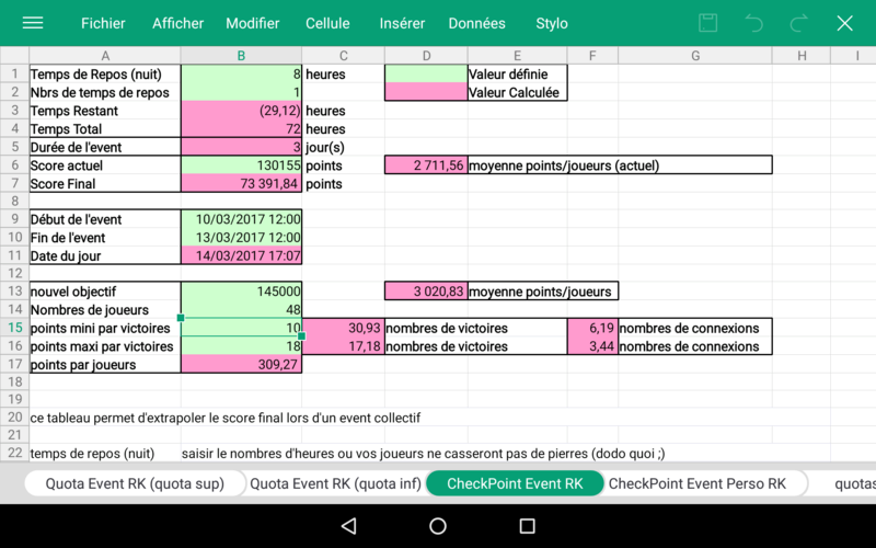 Fichier excel pour RK Wps_of25