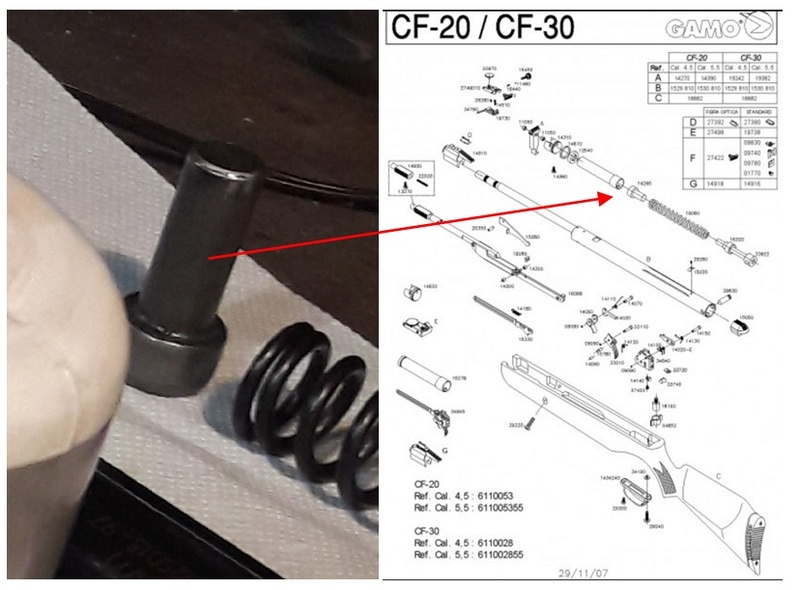 GAMO CF20 - Ou trouver les piéces 510