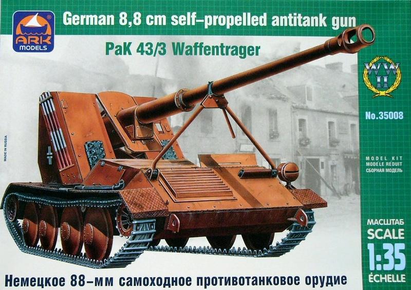 ARK Models 1/35 Pak 43/3 Waffentrager Ark35010