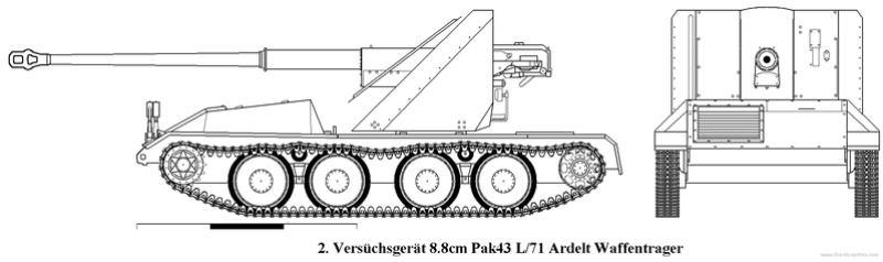 ARK Models 1/35 Pak 43/3 Waffentrager Versuc10